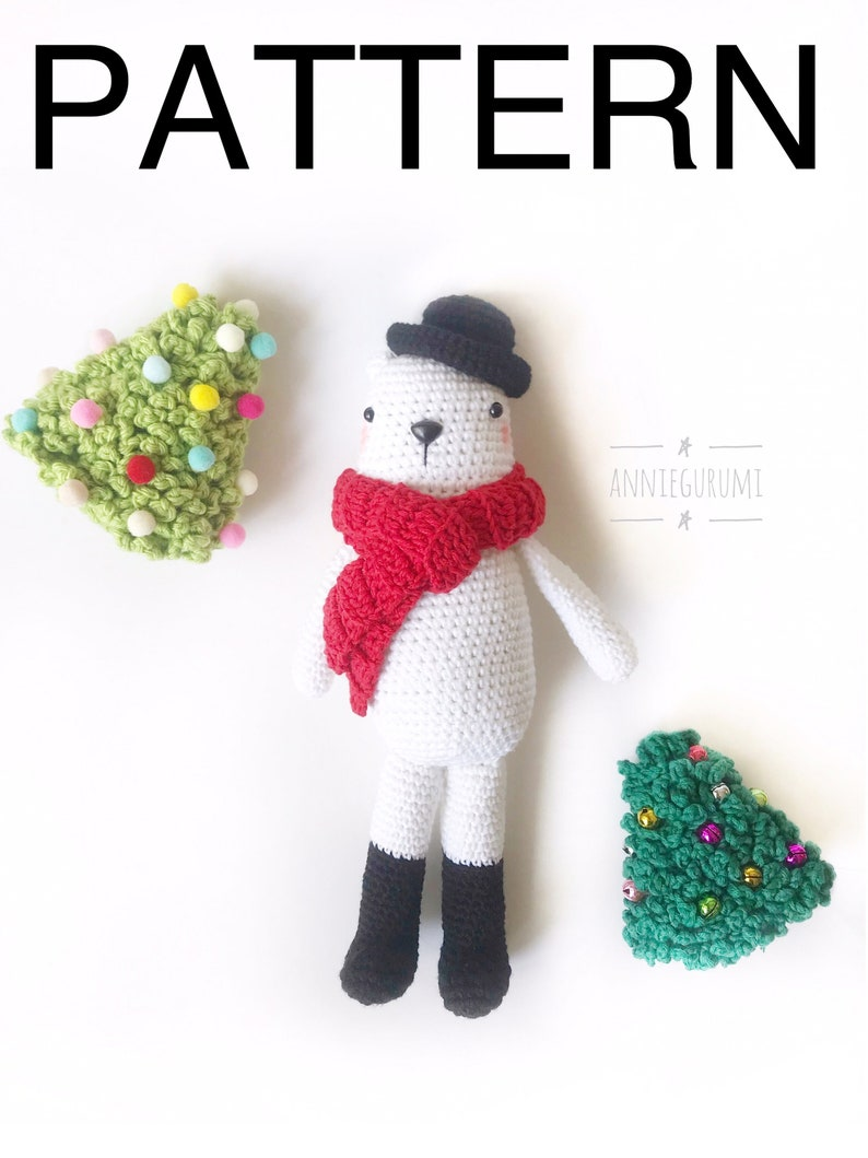 Pattern BUNDLE: Ollie-Bear and Christmas Tree Amigurumi image 0