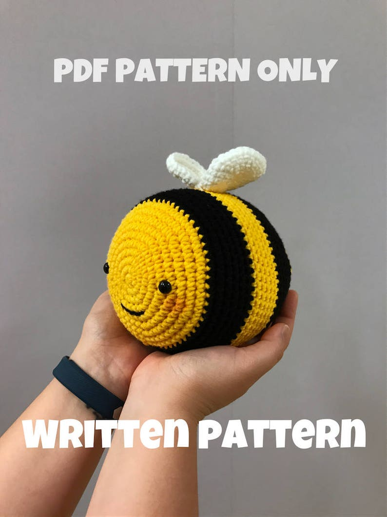 Pattern Chubby Bee Digital PDF image 0