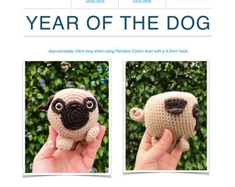 Pattern: Year of the Dog PUG (Digital PDF Pattern)