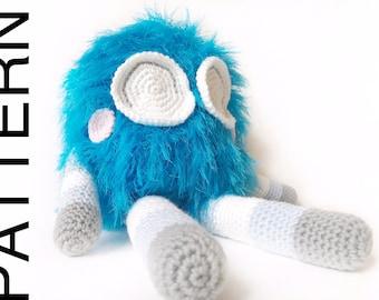 Pattern: Fuzzy Alien Monster Amigurumi (Digital PDF File)