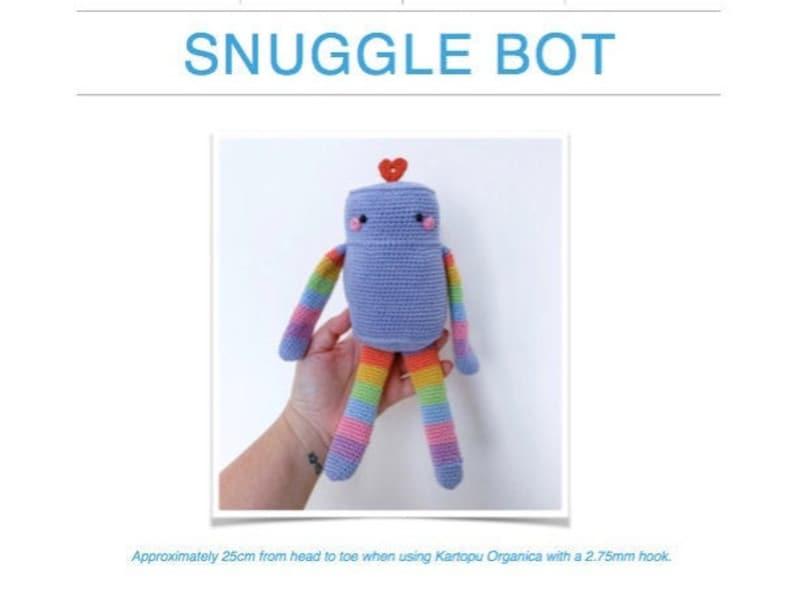 Crochet Pattern: Snuggle Bot AMIGURUMI Digital PDF File image 0