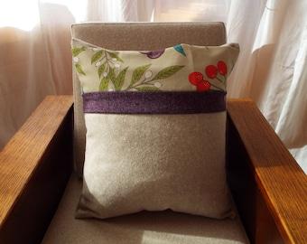 Tweed Stripe Envelope Cushion
