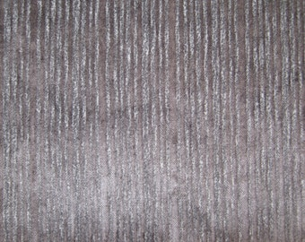 Upholstery fabric by the metre - Charcoal grey tiny stripes, velvet feel