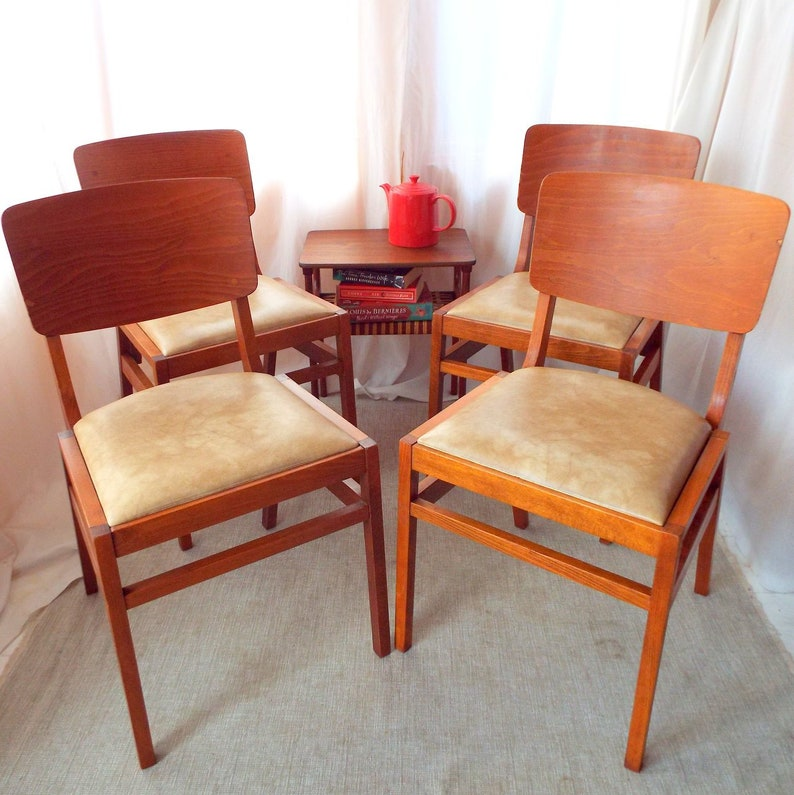 Vintage Stacking Ben Chairs 4 available image 0
