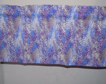 purple blue Window Curtain Valance Ready to Ship