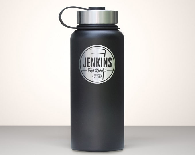 Beer Growler, Custom Vacuum Sealed Stainless Steel Growler 32oz - Magnum