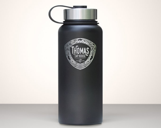 Beer Growler, Custom Vacuum Sealed Stainless Steel Growler 32oz - Mosaic