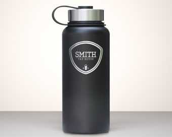 Beer Growler, Custom Vacuum Sealed Stainless Steel Growler 32oz - Willamette