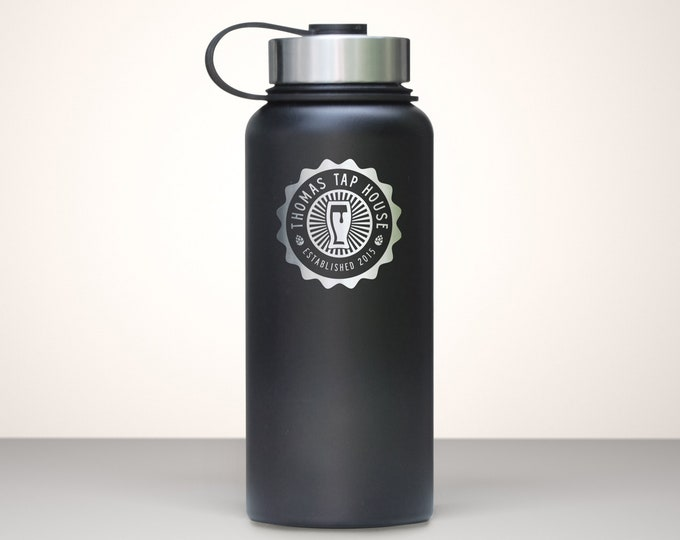 Beer Growler, Custom Vacuum Sealed Stainless Steel Growler 32oz - Comet