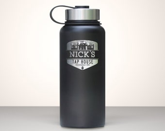 Beer Growler, Custom Vacuum Sealed Stainless Steel Growler 32oz - Summit