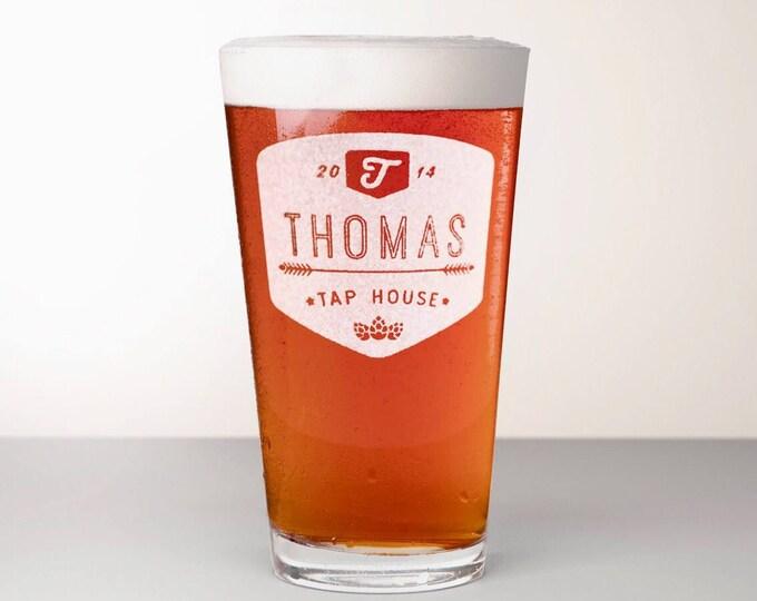 Custom Beer Glass, Engraved Pint Glass - Chinook
