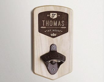 Custom Wall Mounted Bottle Opener - Chinook