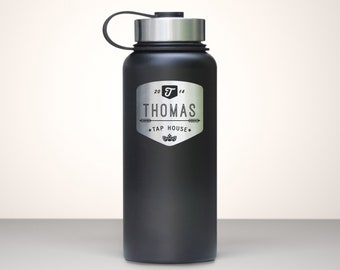 Beer Growler, Custom Vacuum Sealed Stainless Steel Growler 32oz  - Chinook