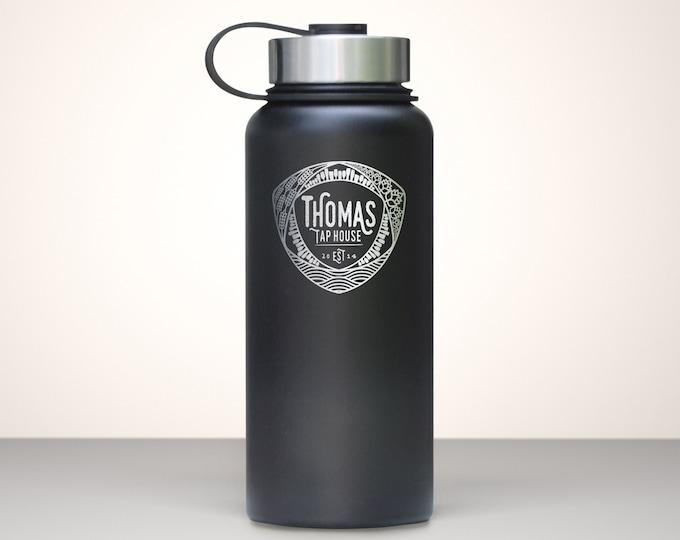 Beer Growler, Custom Vacuum Sealed Stainless Steel Growler 32oz - Mosaic