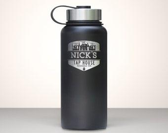 Beer Growler, Custom Vacuum Sealed Stainless Steel Growler 32oz - Summit