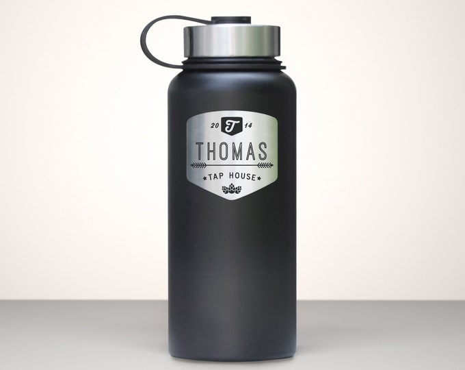 Beer Growler, Custom Vacuum Sealed Stainless Steel Growler 32oz  - Chinook