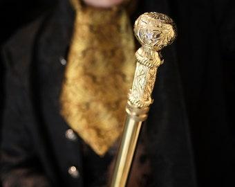 Walking Cane - Gentleman style - Steampunk walking cane - Gentleman - brass