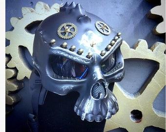 Post Apocalyptic Motorbike Helmet Decorated Raider Helmet Skull Helmet Decorative