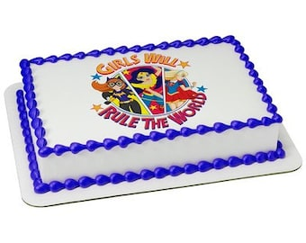 Superhero Girls Edible Cake Or Cupcake Toppers