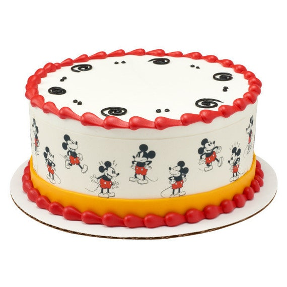 Mickey Mouse Edible Cake Border Decorations Set Of 3 Strips Etsy