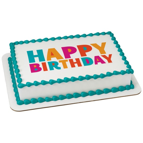 Happy Birthday Candles Edible Cake Or Cupcake Toppers Choose