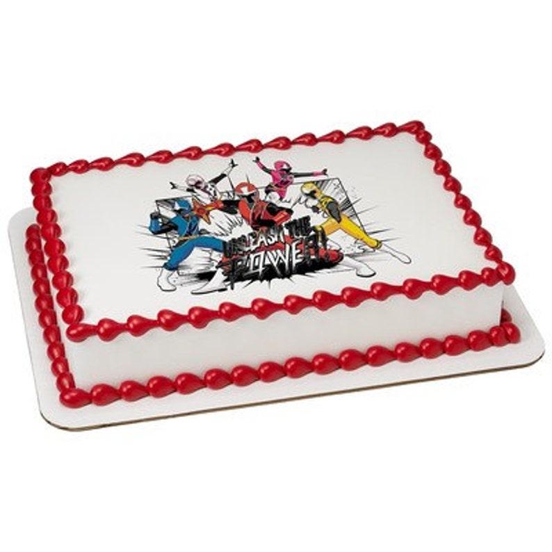 Power Rangers Ninja Steel Edible Cake or Cupcake Toppers - Choose Your Size
