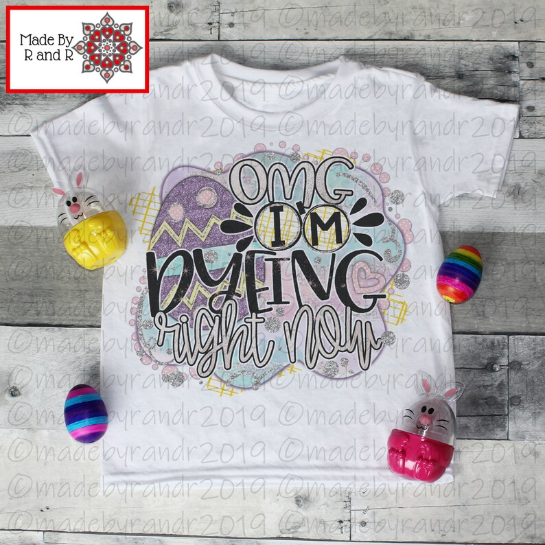 52f2a95a OMG I'm Dyeing Kids T-Shirt T-Shirts Gildan Sublimated | Etsy