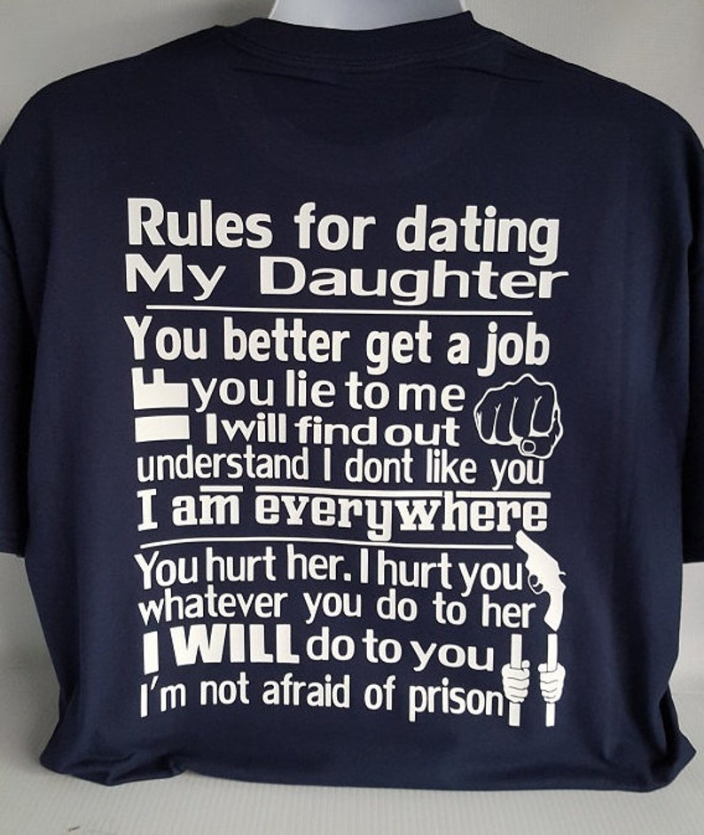 27a43ebe7 Rules for dating my daughter shirtfather daughter shirtover | Etsy