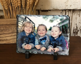 d9a2902b743 Photo Slate Rock Plaque- 5 by 7 Inches- Custom 5x7 Chiseled Edge Slate  Using Your Photograph