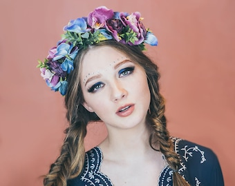 MONA - flowercrown - Handmande, Floralcrown, Floral headpice, Wedding, Wreath, Garland, Accessories