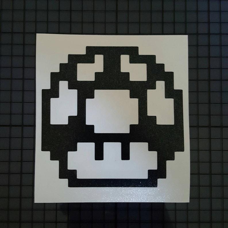 Mushroom Mario wall art stencil,Strong,Reusable,Recyclable