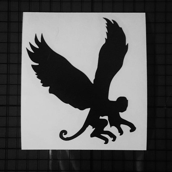 Protected by Flying Monkeys Home Decor Car Truck Window Decal Sticker