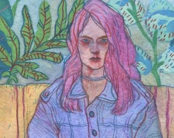 Rought - Original Art - Watercolor Painting