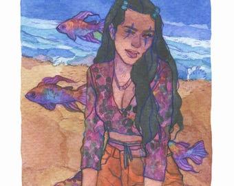 Sea Baby - Original Art - Watercolor Painting