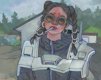 Cyber - Original Art - Gouache Painting