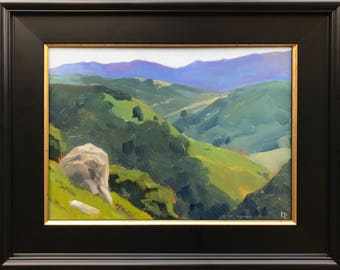 9x12 - Marin Hills - Bay Area - Original Plein Air Painting