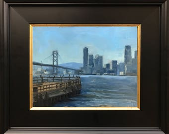 6x8 San Francisco Skyline - Plein Air Painting