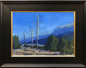 9x12 Pylons at Sunset - Bay Area - Plein Air Painting