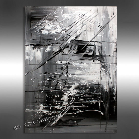 OIL PAINTING Black White Abstract Art 40 Artwork On Etsy