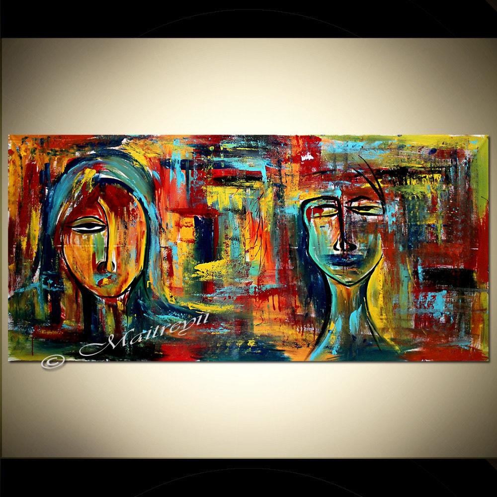 Abstrakte Figurative Kunst moderne Malerei 72 Original