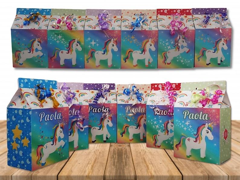 Printable Candy Box Pink Unicorn Treat Boxes DIY Rainbow Unicorn Party Box Instant Download Printable Unicorn Boxes
