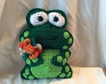 Crochet toy pattern frog tutorial , amigurumi frog pattern , crochet frog pattern , instant download pdf pattern , kawaii pattern