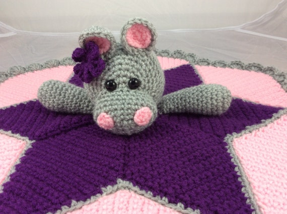 Hippo Lovey Security Blanket Instant Download Pdf Crochet Etsy