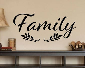 Family Wall Decal | Etsy