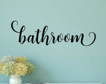 Popular Items For Bathroom Decal
