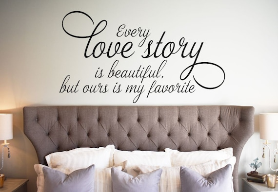 every love story wall decal romantic wall decal bedroom wall | etsy