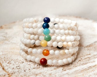 Chakra Balancing Bracelet Reiki Charged Yoga Jewelry Healing Energy Stone Bracelet