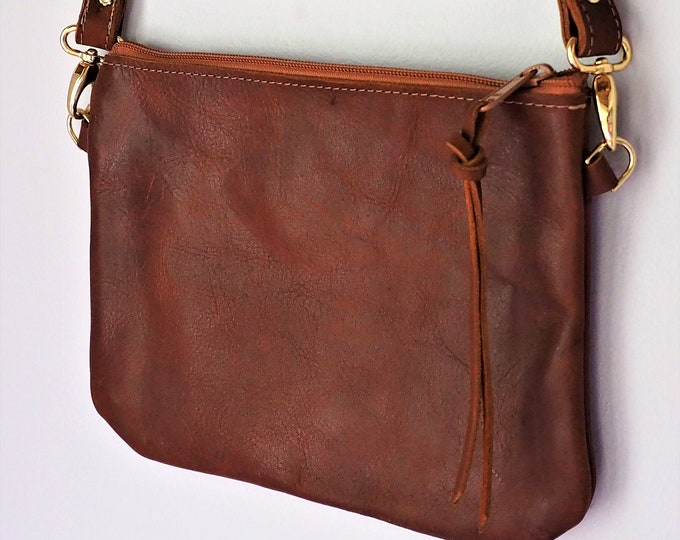 Leather Cross Body Bag / Lined