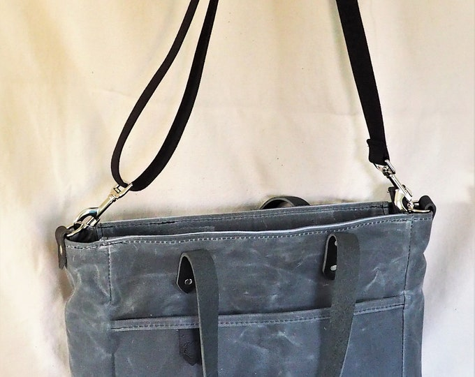 Waxed canvas tote / Lined / Diaper bag