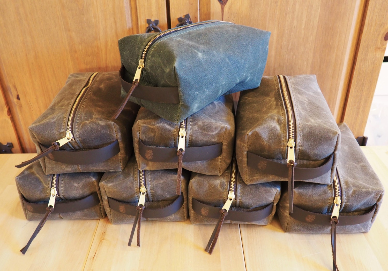 Waxed Canvas Dopp Kits for Groups   Toiletry Kit   Men s Travel Kit   Set  of 7-9. 1 dbdf67d1f2e0d